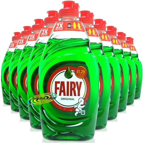 10x Fairy Original Washing Up Dishwashing Liquid 433ml