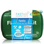 Fast Aid Family Essentials Emergency First Aid Kit For Home Car Travel Sports
