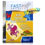 Fast Aid Antiseptic Kids Tattoo Style 15 Waterproof Plasters