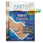 Fast Aid Antiseptic Fabric Dressing Strip 6.3 cm x 1 m