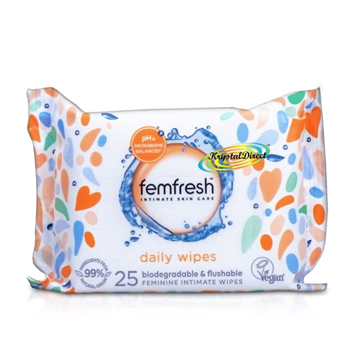 Femfresh feminine Cleansing Intimate hygiene Wipes 25