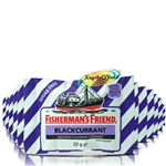 12x Fisherman's Friend Sugar Free Blackcurrant Menthol Lozenges Sweeteners 25g
