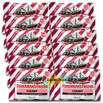 12x Fisherman's Friend Cherry Menthol Sugar Free Lozenges Sweeteners 25g