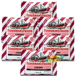 6x Fisherman's Friend Cherry Menthol Sugar Free Lozenges Sweeteners 25g