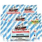12x Fisherman's Friend Sugar Free Original Menthol Eucalyptus Lozenges 25g