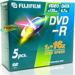 Fujifilm DVD-R 16x 4.7Gb 120Min Jewel Case 5's