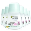 6x Garnier Mineral Invisible Anti Perspirant Deodorant Roll On 50ml