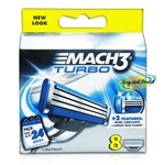 Gillette Mach3 TURBO Blades Pack of 8