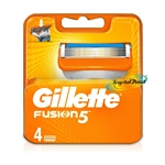 Gillette Fusion Replacement Blades Pack of 4
