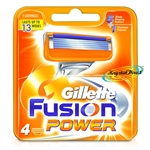 Gillette Fusion Power Replacement Blades Pack of 4