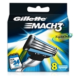 Gillette Mach3 Replacement Blades Pack of 8