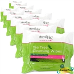 12x Tea Tree Cleansing 25 Wipes