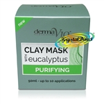 Derma V10 Purifying Eucalyptus Facial Face Clay Mask 50ml