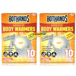 2x Hot Hands Adhesive Body Warmers