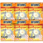 6x Hot Hands Adhesive Body Warmers
