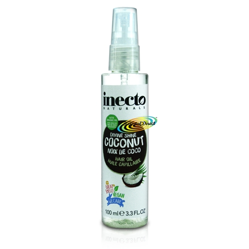 Inecto Coconut Hair Oil Pure Organic Coconut Oil 100ml / 3.3 oz