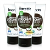 3x Inecto Coconut Oil Organic HAIR SERUM 50ml 1.6oz