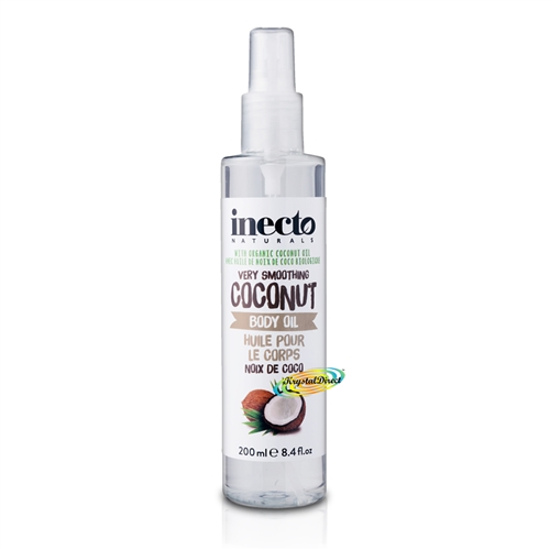 Inecto Coconut Smoothing Pure Organic Coconut Body Oil 200ml / 6.7 oz