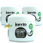 3x Inecto Hydration Coconut Oil Moisture Nourishing Cream Creme 250ml