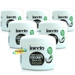 6x Inecto Hydration Coconut Oil Moisture Nourishing Cream Creme 250ml