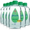 6x Johnsons Baby Massage Oil Aloe Vera 300ml