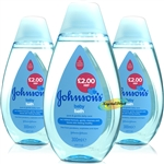 3x Johnsons Baby Bath Liquid 300ml
