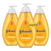 3x Johnsons Baby Shampoo 750ml