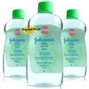 3x Johnsons Baby Massage Oil With Aloe Vera 500ml