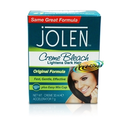 Jolen Original Facial Cream Creme Bleach Lightens Excess Dark Hair 30ml