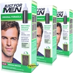 3x Just For Men Original Formula Medium Brown H-35