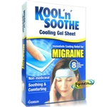 Kool 'n' Soothe Soft Gel Immediate Cooling Migraine Headache Sprain Pain Relief