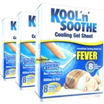 3x Kool 'n' Soothe Kids Fever Multipack 8 Immediate Cooling Relief For 8 Hours