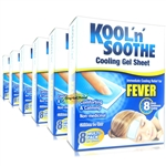 6x Kool 'n' Soothe Kids Fever Multipack 8 Immediate Cooling Relief For 8 Hours