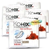 6x Kotex Ultra Thin Super With Wings Sanitary Protection Silky Soft Pads