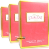 3x Coty L'aimant Laimant 50ml Parfum de Toilette Perfume Natural Spray