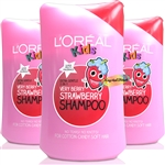 3x L'Oreal Kids VERY BERRY STAWBERRY Shampoo 250ml