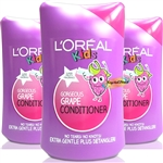 3x L'Oreal Kids Gorgeous GRAPE CONDITIONER - 250ml