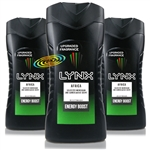 3x Lynx Africa Refreshing Shower Men Body Bath Wash Gel 250ml