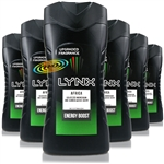 6x Lynx Africa Refreshing Shower Men Body Bath Wash Gel 250ml