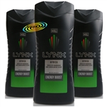 3x Lynx Africa XL Refreshing Men Body Bath Shower Gel 400ml