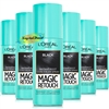 6x Loreal Magic Retouch Black Instant Root Concealer Spray 75ml Temporary Grey Coverage