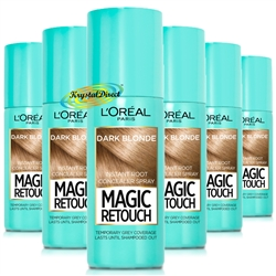 6x Loreal Magic Retouch Dark Blonde Instant Root Concealer Spray 75ml Temporary Grey Coverage
