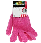 Manicare Spa Reusable Skin Exfoliating Body Bath / Shower / Wash Pink Gloves