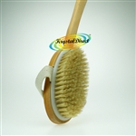 Manicare Long Reach Handle Wooden Bath Shower Body Back Brush Wash