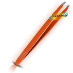 Manicare Stainless Non Rusting Steel Eye Brow Hair Remover Mini Travel Tweezers Orange
