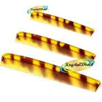 3x Stratton Hair Comb Cambridge 18.2cm 7.12 inches