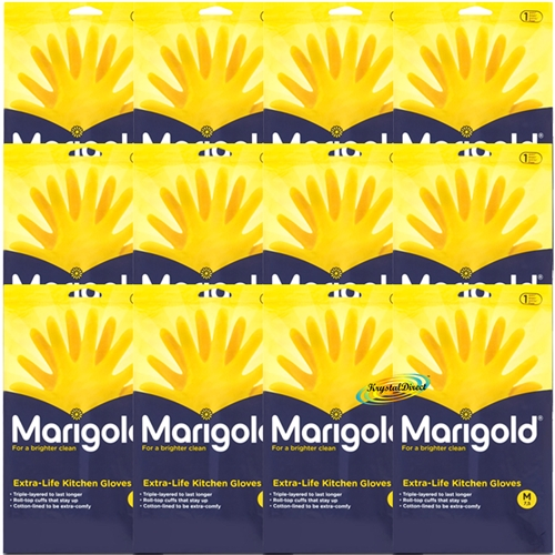12x Marigold Gloves Kitchen Medium