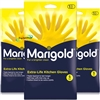 3x Marigold G43Y Extra Life Cotton Lined Stronger Small Size Kitchen Gloves