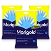 3x Marigold Kitchen Gloves For Gentle Sensitive Skin Cotton Lined Medium