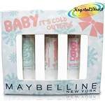 Maybelline Baby Lips Dr Rescue Gift Set Lip Balm Too Cool, Coral Crave, Pink Me Up